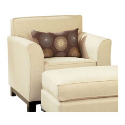 Chelsea Home Furniture - Chelsea Home Clark Chair and  Ottoman in Dum Dum Natural - Clark Chair and Ottoman in Dum Dum Natural belongs to the Chelsea Home Furniture collection .