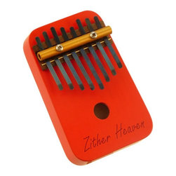 Zither Heaven - Zither Heaven 8 Note Red Thumb Piano - TP8N-R - Shop for Toy Instruments from Hayneedle.com! Beginners in learning musical instruments will love to start with the Zither Heaven 8-Note Red Thumb Piano. The thumb piano is played by holding down a key and then releasing it; the vibration resonates in the wooden body to create a great sound. About Zither HeavenZither Heaven is dedicated to producing high quality musical instruments in the United States using sustainable native North American hardwoods along with other components that are made in the USA. Their commitment to quality and precision produces great-sounding musical instruments for both children and adults. Since Zither is involved in the production of their products at every stage and by producing locally they are able to guarantee satisfaction with their products.