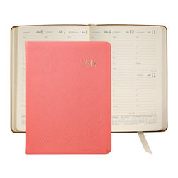 2015 Desk Diary, Coral French Goatskin Leather - We collaborated with lifestyle blogger Kat Tanita, author of the blog with love from Kat to bring you a variety of exclusive leather accessories inspired by her travels.