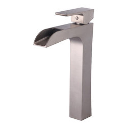 YOSEMITE HOME DECOR - Single Handle Vessel Faucet - This series features a slender form single handle vessel faucet in elegant bronze nickel with striking sharp, dominant edges. This piece is AB 1953 compliant and meets NSF low lead standards. Low maintenance makes this faucet a practical addition to any bathroom. It comes with a supply line and is a single-hole installation. This vessel faucets masculine and polished design would complement any bathroom vanity and decor. Metal Pop-up drain included