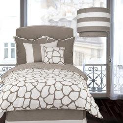 Oilo - Cobblestone Duvet Cover in Taupe - Cobblestone Duvet Cover in Taupe