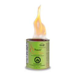 Paramount - Paramount EcoLogo Gel Fuel - 12 Pack - Paramount indoor/Outdoor EcoLogo Gel Fuel is made from 100% clean burning Ethanol alcohol. It is safe and easy to use with no smoke, no mess and no fuss. The gel fuel crackles just like a real log fire, and emits 3,000 BTUs of heat per can, which lasts 2.5 to 3 hours. This gel fuel is designed to be used indoors or outdoors and is an ideal accompaniment to any Paramount gel fuel indoor fireplace, outdoor firepit or garden burner. There is no pouring involved; place the can into your Paramount gel fuel appliance & light the gel fuel with a fireplace lighter or long match. When you are done, extinguish the flame easily by cutting the flame's oxygen supply with the lid or snuffer tool provided with all Paramount Gel Fuel appliances.