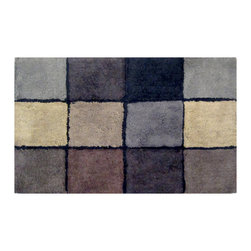Veratex - Veratex Oxford Geometric 20 x 33 Bath Rug - The Veratex Oxford Bath Rug features a lovely geometric pattern of colorful rectangles. The rug goes great with the Oxford bath set and the unique design creates a modern look to the home.