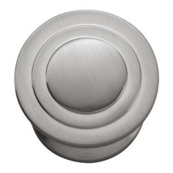 Hickory Hardware - Hickory Hardware 1-1/4 In. Deco Satin Nickel Cabinet Knob - Often characterized with clean, sleek lines.  Marked with solid colors, predominantly muted neutrals or bold bunches of color.  An emphasis on basic shapes and forms.