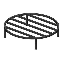 """Parts and Accessories - Made from 1/2"""" Solid steel bar this round fire pit grate is a good value for those who do not want to spend as much as our heavy duty round grates cost."""