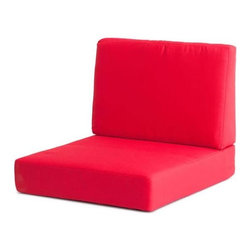 Zuo Modern - Armchair Cushion in Red - UV and water resistant. Warranty: One year. Made from fabric. No assembly required. 31.9 in. W x 27.6 in. D x 30.7 in. H (6.8 lbs.)
