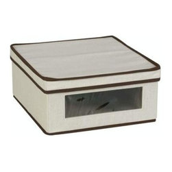 Household Essentials - Vision Storage Box, Small - Our Small Vision Storage Box is ideal for short cabinet shelves and other tight places. Its depth gives you a great amount of storage space, while its shorter stature allows you to slip it into narrower nooks and crannies. Our Small Vision Storage Box is ideal for short cabinet shelves and other tight places. Its depth gives you a great amount of storage space.