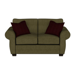 Stanton - 154 Twin Sleeper, Bella Mocha, Stanton Memory Foam Premium Mattress - The 154 Twin Sleeper by Stanton is now on sale, starting at $1119.  Rolled arms on this loveseat sofa bed provide full-scale style in a compact package.