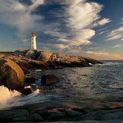 Magic Murals - Peggy's Cove, Canada Lighthouse Wallpaper Wall Mural - Self-Adhesive - Multiple - Peggy's Cove, Canada Lighthouse Wall Mural
