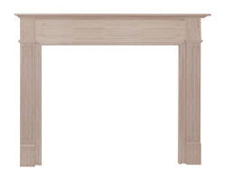 """Pearl Mantel - The Williamsburg Fireplace Surround, Unfinished, 56"""" - Taking on the mantle of creating a warm and welcome home doesn't need to be a complicated affair. Start with a beautiful hardwood fireplace surround that showcases and frames your fireplace as the gathering spot for your friends and family."""