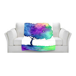 DiaNoche Designs - Fleece Throw Blanket by Brazen Design Studio - Hue Tree II - Original Artwork printed to an ultra soft fleece Blanket for a unique look and feel of your living room couch or bedroom space.  DiaNoche Designs uses images from artists all over the world to create Illuminated art, Canvas Art, Sheets, Pillows, Duvets, Blankets and many other items that you can print to.  Every purchase supports an artist!