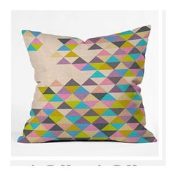 """DENY Designs - Bianca Green Completely incomplete Throw Pillow - Wanna transform a serious room into a fun, inviting space? Looking to complete a room full of solids with a unique print? Need to add a pop of color to your dull, lackluster space? Accomplish all of the above with one simple, yet powerful home accessory we like to call the DENY Throw Pillow! Features: -Bianca Green collection. -Material: Woven polyester. -Sealed closure. -Spot treatment with mild detergent. -Made in the USA. -Closure: Concealed zipper with bun insert. -Small: 16"""" H x 16"""" W x 4"""" D, 3 lbs. -Medium: 18"""" H x 18"""" W x 5"""" D, 3 lbs. -Large: 20"""" H x 20"""" W x 6"""" D, 3 lbs."""