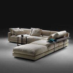Overview - Pleisure corner sofa by Flexform,