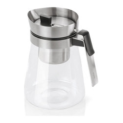 """Blomus - Sencha Tea Maker - Sense and sensibility. A good """"cuppa"""" tea begins with a practical sense of design: a tea maker that lets you see the depth of color of your brew and allows you to take the leaves out when needed. And a decidedly artistic sensibility imparts your presentation with a distinctly modernist flavor."""