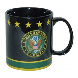 Westland - 4 Inch United States Army Seal Ceramic Coffee Mug, Holds 14 oz. - This gorgeous 4 Inch United States Army Seal Ceramic Coffee Mug, Holds 14 oz. has the finest details and highest quality you will find anywhere! 4 Inch United States Army Seal Ceramic Coffee Mug, Holds 14 oz. is truly remarkable.