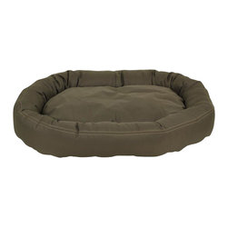 Carolina Pet Company - Brutus Tuff Comfy Cup, Olive, 42 X 36 X 6 - Super tough for pets that are rough on their beds.  1200 D Polyester fabric makes this the perfect bed for pets that like to scratch or chew.  Easy off zippered cover for easy care.  Machine washable.  100% recycled high loft Polyester fill keeps pets off cold floors for added comfort and relief on hips, joints and pressure points.
