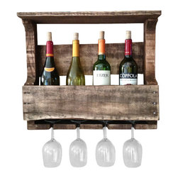 (del)Hutson Designs - The Original Wine Rack - This item is salvaged from 100% reclaimed wood. Anything can be reusable and functional with the right kind of hands or creative eye, behind the making!