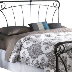 Fashion Bed - Fashion Bed Langford Headboard in Blackened Silver-Full size - Fashion Bed - Headboards - B12A34 - Graceful lines and rustic details make this headboard a worthy addition to your decor. Reminiscent of French antique iron gates, the Langford Headboard is the epitome of elegance, style, and class. The Langford Headboard features four spiral C scrolls, delicate castings, and artistically curved spindles to bring a taste of the French countryside into your home. The Langford Headboard is finished in Blackened Silver, and is available in full, queen, and king to accommodate any space.