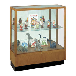 Waddell - Heritage 40 in. Display Case in Carmel Finish - With their classic styling, Heritage Series cases will stand the test of time as well as they stand up to school environments. With over a century of experience behind them, Heritage Series display cases continue to be a favorite.
