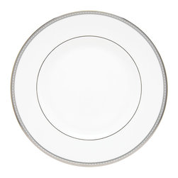 Lenox - Lenox 'Murray Hill' 10.75-inch Dinner Plate - The white-bodied china,accented with precious platinum will make this plate the focal point of each place setting. A geometric pattern of rectangles makes its way around the rim of this Lenox Murray Hill dinner plate for an elegant,sophisticated look.