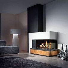 Modern Fireplaces by International Iron and Stone LLC
