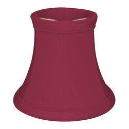 """Royal Designs, Inc"" - 5"" True Bell Burgundy Chandelier Lampshade - ""This 5"" True Bell Burgundy Chandelier Lampshade is a part of Royal Designs, Inc. Timeless Chandelier Shade Collection and is perfect for anyone who is looking for a simple yet stunning lampshade. Royal Designs has been in the lampshade business since 1993 with their multiple shade lines that exemplify handcrafted quality and value."