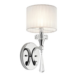 Kichler Lighting - Kichler Lighting 42634CH Parker Point Chrome Wall Sconce - 1, 60W Candelabra