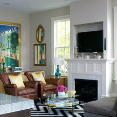 Contemporary Family Room Zinger/KBI/Meredith Corp.