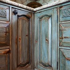 Eclectic Kitchen Cabinets by La Puerta Originals