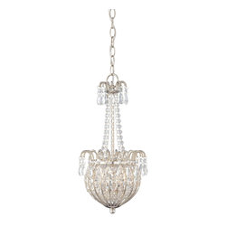 Quoizel - Quoizel JLE2809IS Jolene Traditional Crystal Pendant Light - This collection features crystal strands, beads and drops to create a stunning silhouette.  The elegant imperial silver finish and candlecover sleeves balance perfectly for a fabulous design suited to any decor.