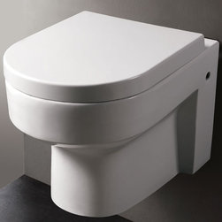 "Eago - Round Modern Wall Mount Dual Flush Toilet - Ultra Low Flush (ULF) Eco-Friendly 1.6 Gallon full tank flush.. Dual Flush - One botton for solid waste (1.6 gpf) and one button for liquid waste (0.8 gpf).. ADA Compliant. Can be installed at the height of your choice. Install it so that the seat height is over 17"""" from the floor for ADA compliance.. One Piece Toilet. Sleek Wall Mounted Look.. Fully Glazed inside & out. This environmentally friendly toilet will save a family of four an average of 10,000 gallons of water per year. Soft Closing Toilet Seat & Lid Included. 22 in. L x 14.125 in. W x 13 in. H (46 lbs.)"