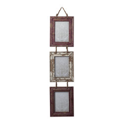Set of Picture Frames With Natural Rope Hanger - *Dimensions: 0.75L x 7.75W x 35H