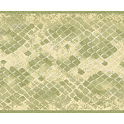 York Wallcoverings - Light Green Diamond Wallpaper Border - Wallpaper borders bring color, character and detail to a room with exciting new look for your walls - easier and quicker than ever.