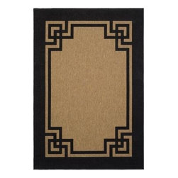 Martha Stewart Living - Martha Stewart Area Rug, Deco Frame Coffee/Black Indoor-Outdoor Area Rug - Martha Steweart has a wonderful line of rugs at Home Depot. I would have used this rug if I hadn't already chosen the Greek key design I used.