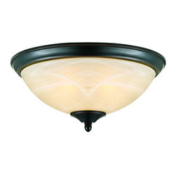 Design House - Design House 517375 Trevie Transitional 2 Light Ambient Lighting Ceiling Fixture - Design House 517375 Transitional 2 Light Ceiling Fixture from the Trevie CollectionThe timeless style of the oil rubbed bronze finish and warm antique glass make the Trevie an updated classic.Features: