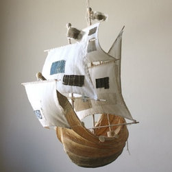 The Weaver Girl - Ann Wood is a magical creator. Her soft sculptures are not only beautiful but fantastically detailed. One of her ships would be a dream to own.
