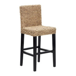 Z Gallerie - Hyacinth Counter Stool - A beautiful and natural material is woven over a simple modern form to create our Hyacinth Collection. Water hyacinth is a sustainable and renewable fiber and gives a great look and comfort to a dining collection.