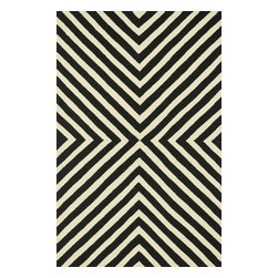 """Loloi Rugs - Loloi Rugs Palm Springs Collection - Black / Ivory, 2'-3"""" x 3'-9"""" - For the first time ever, world renowned designer Dann Foley brings his eye for great design and modern living to outdoorrugs. With patterns and colors as dynamic as Dann's persona, the Palm Springs Collection reflects Dann's passion forfun outdoor decorating. Palm Springs is hand hooked in China of 100% polypropylene that's specially treated to befade-resistant in spite of regular sunshine or rain."""