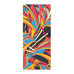 "Kess InHouse - Danny Ivan ""Slippery Slope"" Orange Blue Metal Luxe Panel (9"" x 21"") - Our luxe KESS InHouse art panels are the perfect addition to your super fab living room, dining room, bedroom or bathroom. Heck, we have customers that have them in their sunrooms. These items are the art equivalent to flat screens. They offer a bright splash of color in a sleek and elegant way. They are available in square and rectangle sizes. Comes with a shadow mount for an even sleeker finish. By infusing the dyes of the artwork directly onto specially coated metal panels, the artwork is extremely durable and will showcase the exceptional detail. Use them together to make large art installations or showcase them individually. Our KESS InHouse Art Panels will jump off your walls. We can't wait to see what our interior design savvy clients will come up with next."