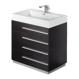 Fresca - Fresca Livello Bathroom Vanity With Faucet and Medicine Cabinet, Black - The Livello 30 ...