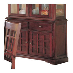 Coaster - Coaster Newhouse Buffet China Cabinet in Cherry Finish ...