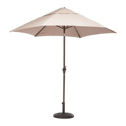 Zuo Modern - UV Resistant Umbrella in Beige - Water resistant. Warranty: One year limited. Made from resin. Assembly required. 88.6 in. Dia. x 96 in. H (35 lbs.)Enjoy a refreshing cocktail in the shade with the South Bay Table Set.