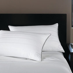 Hotel Collection Bedding, Standard/Queen Firm Down Pillow - The softness of down, the luxury of Hotel Collection. Bring the best to your bedroom with lofty, European goose down fill wrapped in smooth, 400-thread count cotton and finished with an embroidered Hotel Collection logo. It's an indulgence you'll enjoy night after night. Removable cover. Only at Macy's. As featured on Oprah's Favorite Things 2012.