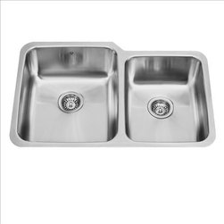 Vigo - VIGO VG3221L Double Bowl Sink - Fully undercoated and padded with unique multi layer sound eliminating technology, which also prevents condensation
