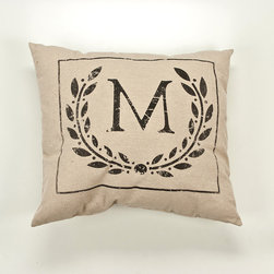 Twelve Timbers - Initial Art Small Framed Pillow - Initial Art Small Framed Pillow