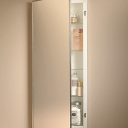 Broan-NuTone - Broan-Nutone Federal Specification 16W x 36H in. Recessed Medicine Cabinet 460P3 - Shop for Bathroom Cabinets from Hayneedle.com! Hey we can follow the rules too. For government installations we have your medicine cabinet. For the rest of you you can get that industrial no-nonsense look too. It's even cleared to meet Specification WWP541/8B. Yes sir! Reversible hinges let the door open left or right. Three glass shelves adjust to your needs and the chromed-metal mirror frame of the Government Spec Medicine Cabinet looks sharp. Size Guide (in inches): For cabinet size 16W x 4.5D x 36H wall opening should be 14W x 3.5D x 34HAbout Broan-NuToneBroan-NuTone has been leading the industry since 1932 in producing innovative ventilation products and built-in convenience products all backed by superior customer service. Today they're headquartered in Hartford Wisconsin employing more than 3200 people in eight countries. They've become North America's largest producer of medicine cabinets ironing centers door chimes and they're the industry leader for range hoods bath and ventilation fans and heater/fan/light combination units. They are proud that more than 80 percent of their products sold in the United States are designed and manufactured in the U.S. with U.S. and imported parts. Broan-NuTone is dedicated to providing revolutionary products to improve the indoor environment of your home in ways that also help preserve the outdoor environment.