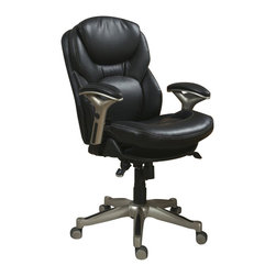 Serta by True Innovations - Serta Back in Motion Office Chair in Black Bonded Leather - Serta by True Innovations - Office Chairs - 44186 - About This Product: