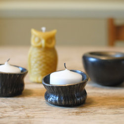 Textured Candle Cups - Each of our hand-forged textured candle cups is one-of-a-kind.