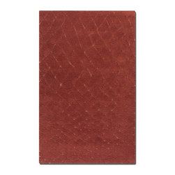 Uttermost - Uttermost Casablanca Tuscan Red Rug - Medium shag in over dyed Tuscan red wool with burnt gold low cut details.