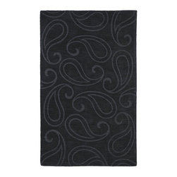 Kaleen - Contemporary Imprints Classic 8'x11' Rectangle Charcoal Area Rug - The Imprints Classic area rug Collection offers an affordable assortment of Contemporary stylings. Imprints Classic features a blend of natural Charcoal color. Hand Tufted of 100% Wool the Imprints Classic Collection is an intriguing compliment to any decor.